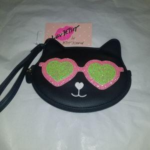 Luv Betsey Johnson Cat Wristlet